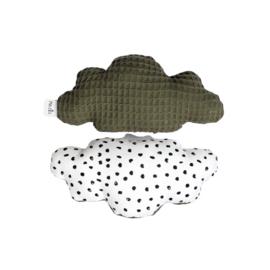 Rammelaar | Wolk | monochrome stipjes & army groen