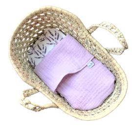 Beddengoed mozesmandje   Lila lavendel