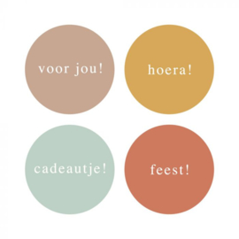 Stickers Multi | Mini kleur | 35MM