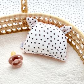 Rammelbeestje COCO   monochrome dots & poeder roze