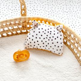 Rammelbeestje COCO   monochrome dots & oker