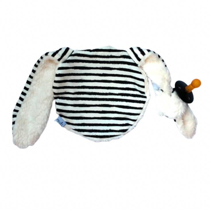 Knijn speendoekje | off-white & black streep