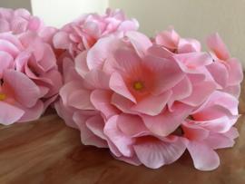 Kunstbloemen hortensia roze, diameter 14 cm