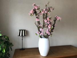 Bloesemboom met roze zijde bloesem inclusief pot 100 cm