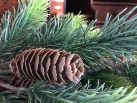 Sparreboom kunst takken met sparappels 44 cm