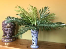 Kunstplant palm, 48 cm hoog, 15 bladeren