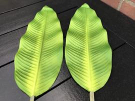 Kunstblad bananenplant/bananenblad 95 cm