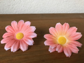 Kunstbloemen madelief peach 5 cm