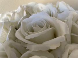 Kunstbloemen rozen wit, 50 cm