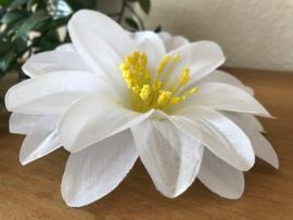 Kunstbloemen Dahlia wit, diameter 12 cm