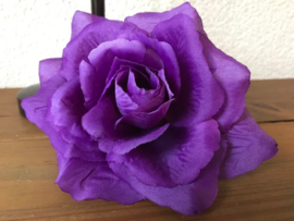 Kunstbloemen Franse rozen paars diameter 12 cm