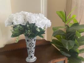 Kunstbloemen rozen wit hoogte 40 cm