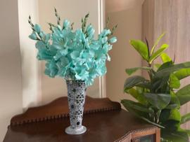 Kunstbloemen gladiolen turquoise 48 cm