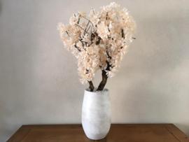 Kunst bloesemboom inclusief pot, light peach, hoogte 115 cm
