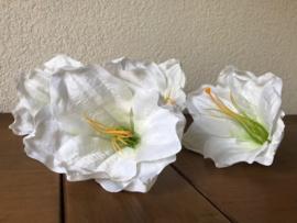 Kunstbloemen amaryllis gebroken wit diameter 14 cm