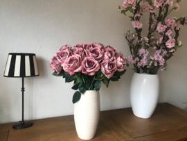 Kunstbloemen oud roze rozen 50 cm