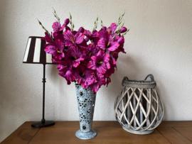 Kunstbloemen gladiolen wijnrood, 48 cm