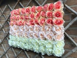Flower wall/bloemenwand paneel 40x60 cm, horizontaal design