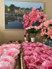 """Roze kunstbloemen """"baby shower"""""""