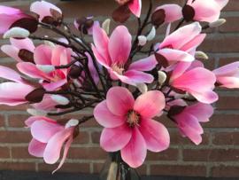 Kunstbloemen/bloementak magnolia 55 cm, 4 bloemkoppen