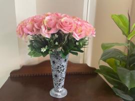 Kunstbloemen rozen roze, hoogte 40 cm
