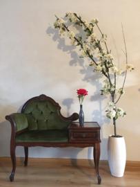 Bloesemboom met witte zijde bloesem, 195 cm hoog