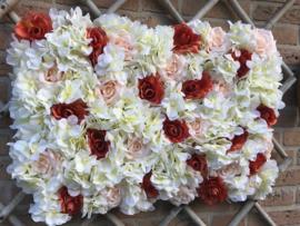 Flower wall/bloemenwand paneel 40x60 cm, multi color