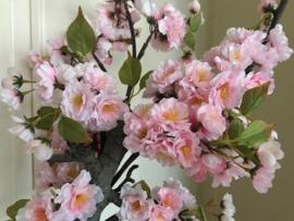 Bloesemboom/bloesem boom met roze zijde kunstbloemen, 150 cm