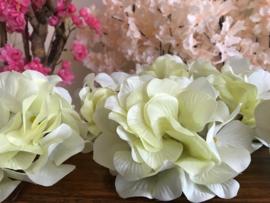 Kunstbloemen hortensia gebroken wit, diameter 14 cm