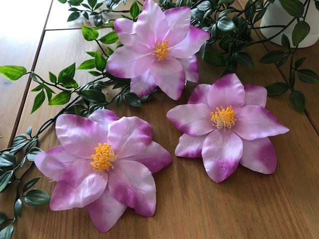 Kunstbloemen clematis paars, diameter 12 cm