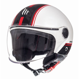 Helm MT Street Entire Gloss Wit/Rood