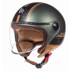 Helm MT Street Entire  Mat groen/bruin