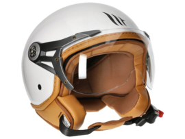 Helm MT Soul Retro Glans wit