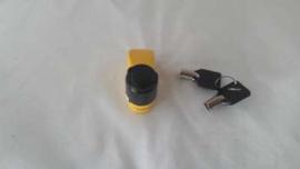 Schijfremslot Mini 6mm geel