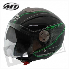 Helm MT City Eleven Dynamic Zwart/Groen