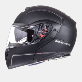 Helm MT ATOM SV Solid mat zwart
