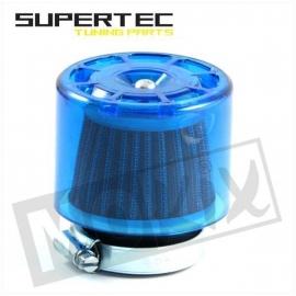 Luchtfilter Supertec 35mm recht blauw