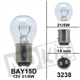 Lamp BAY15D 12V 21/5W bollard