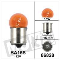 Lamp BA15S 12V10W oranje