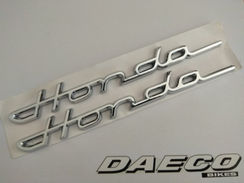 Sticker honda chroom - per paar