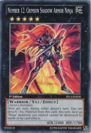 Number 12: Crimson Shadow Armor Ninja - Unlimited - SP13-EN030