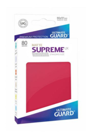 Supreme UX Sleeves - Standard Size Matte - Red