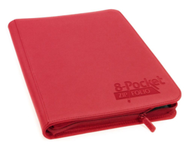 Ultimate Guard - 8-Pocket Zipfolio - Red