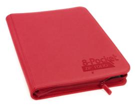 Ultimate Guard - 8-Pocket Zipfolio - Red
