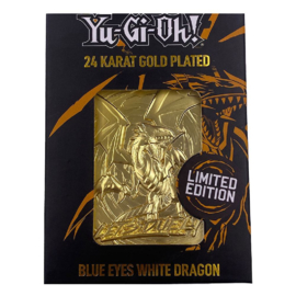 Blue- Eyes White Dragon- Limited Edition  Gold Embossed Metal Card