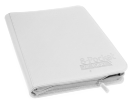 Ultimate Guard - 8-Pocket Zipfolio - White