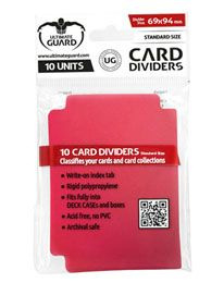 Card Dividers - Standard Size - Red