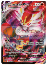 Cinderace V MAX - S&S Rebel Clash - 036/192