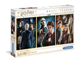 Harry Potter - Multi Jigsaw Puzzle - Characters (3 x 1000 pieces)