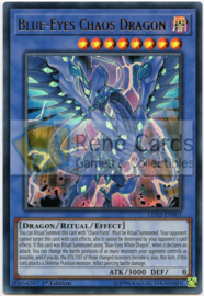 Blue-Eyes Chaos Dragon - 1st. Edition - LED3-EN001